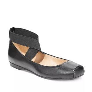 Jessica Simpson Black Elastic Ballet Flats